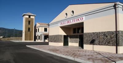 Constructionof the new Fire Brigade station - San Vito (CA)